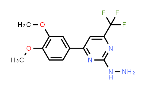 [4-(3,4-dimethoxyphenyl)-6-(trifluoromethyl)pyrimidin-2-yl]hydrazine