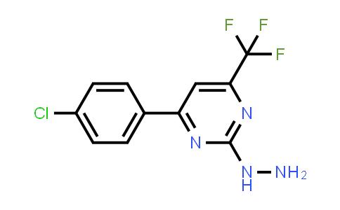 [4-(4-chlorophenyl)-6-(trifluoromethyl)pyrimidin-2-yl]hydrazine