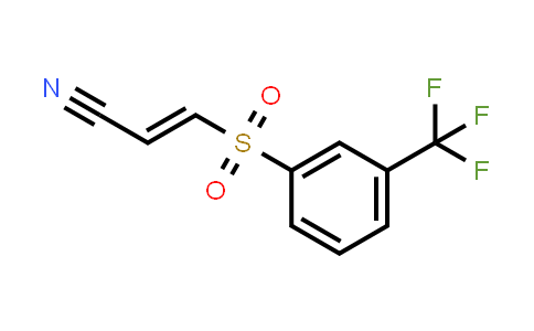 (E)-3-[3-(trifluoromethyl)phenyl]sulfonylprop-2-enenitrile