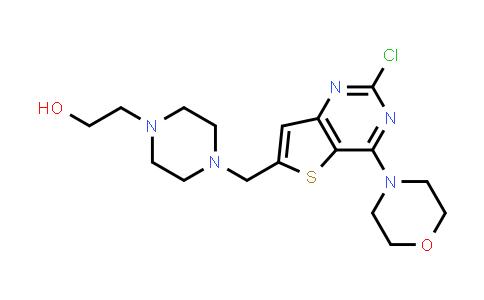 2-[4-[(2-chloro-4-morpholino-thieno[3,2-d]pyrimidin-6-yl)methyl]piperazin-1-yl]ethanol