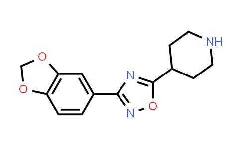 3-(1,3-Benzodioxol-5-yl)-5-(4-piperidyl)-1,2,4-oxadiazole