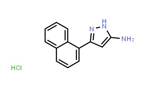 3-(1-Naphthyl)-1H-pyrazol-5-amine hydrochloride