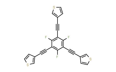 3-[2-[2,4,6-trifluoro-3,5-bis[2-(3-thienyl)ethynyl]phenyl]ethynyl]thiophene