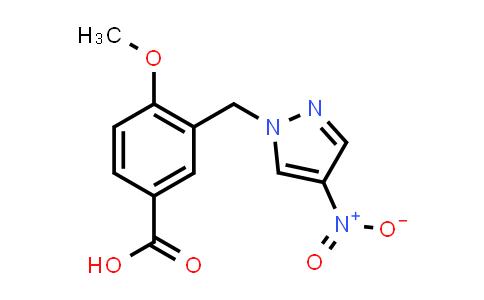 4-Methoxy-3-[(4-nitropyrazol-1-yl)methyl]benzoic acid