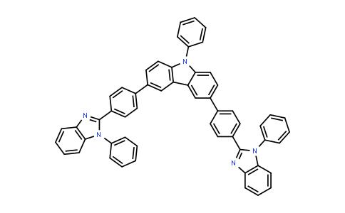 9-phenyl-3,6-bis[4-(1-phenylbenzimidazol-2-yl)phenyl]carbazole