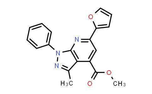 methyl 6-(2-furyl)-3-methyl-1-phenyl-pyrazolo[3,4-b]pyridine-4-carboxylate
