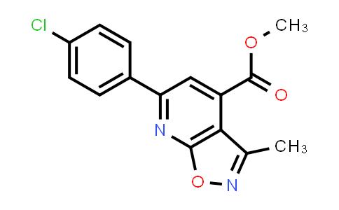methyl 6-(4-chlorophenyl)-3-methyl-isoxazolo[5,4-b]pyridine-4-carboxylate