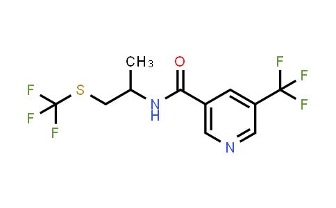 N-(1-Methyl-2-trifluoromethylsulfanyl-ethyl)-5-trifluoromethyl-nicotinamide