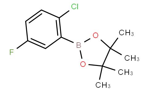 2-(2-chloro-5-fluorophenyl)-4,4,5,5-tetramethyl-1,3,2-dioxaborolane