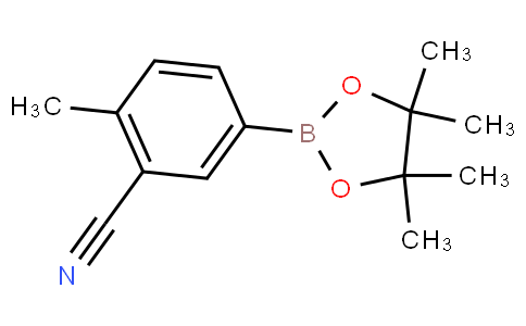 2-methyl-5-(4,4,5,5-tetramethyl-1,3,2-dioxaborolan-2-yl)benzonitrile