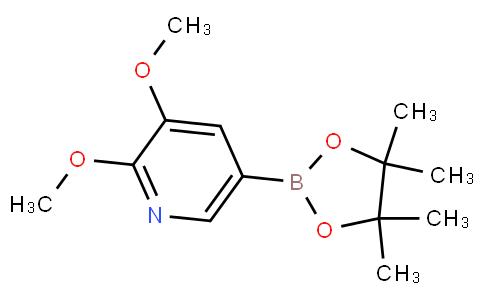 2,3-dimethoxy-5-(4,4,5,5-tetramethyl-1,3,2-dioxaborolan-2-yl)pyridine