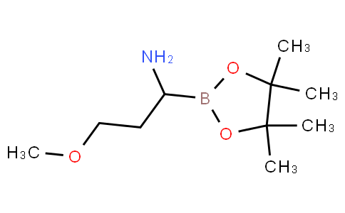 3-methoxy-1-(4,4,5,5-tetramethyl-1,3,2-dioxaborolan-2-yl)propan-1-amine