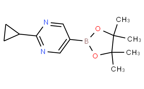 2-cyclopropyl-5-(4,4,5,5-tetramethyl-1,3,2-dioxaborolan-2-yl)pyrimidine