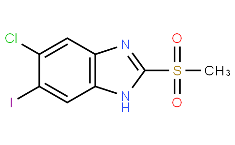 5-chloro-6-iodo-2-(methylsulfonyl)-1H-benzo[d]imidazole