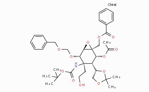 ((1S,2R,3S,4R,5S,6R)-2-acetoxy-5-((benzyloxy)methoxy)-4-((tert-butoxycarbonyl)amino)-3-((S)-2,2-dimethyl-1,3-dioxolan-4-yl)-4-(2-hydroxyethyl)-7-oxabicyclo[4.1.0]heptan-1-yl)methyl benzoate